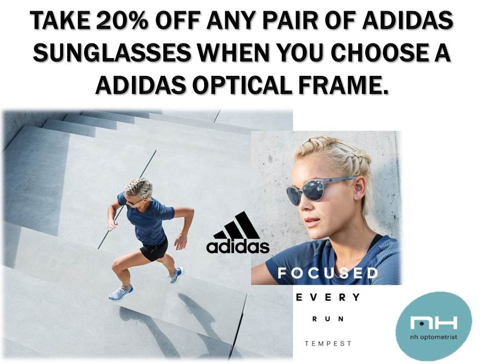 Adidas Eyeware promotion NH Optometrist Plattekloof
