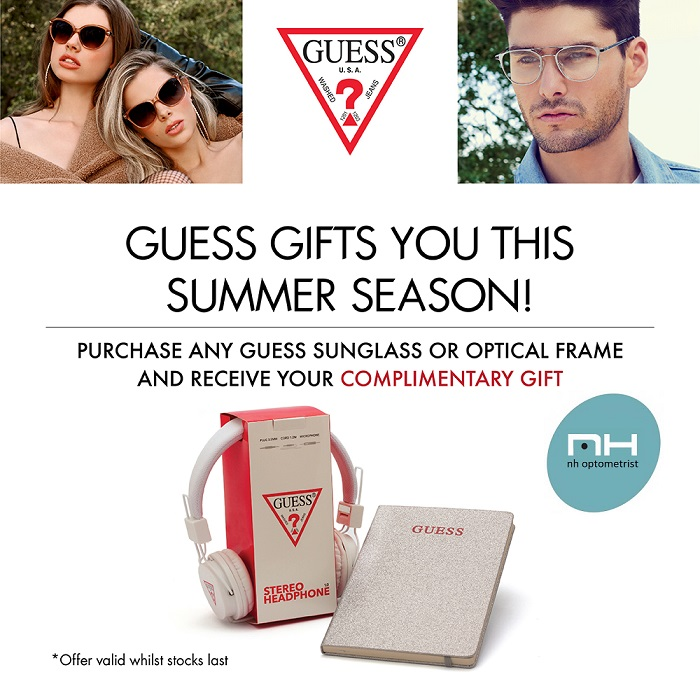 Free gift from GUESS promotion at NH Optometrist Plattekloof Cape Town