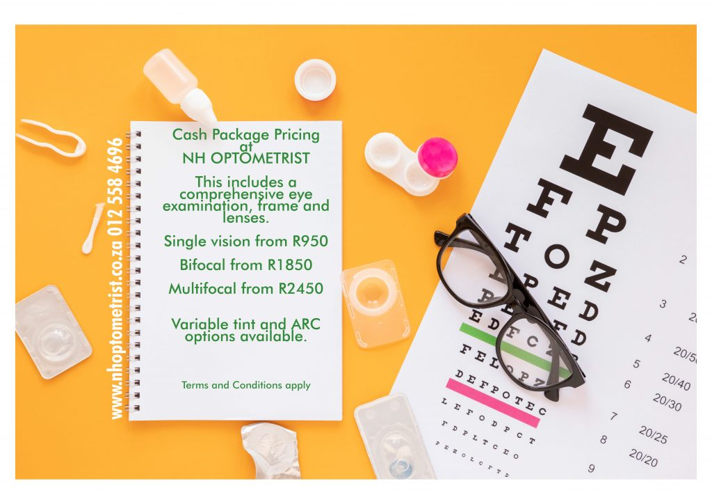Cash Packages at NH Optometrist Plattekloof Cape Town