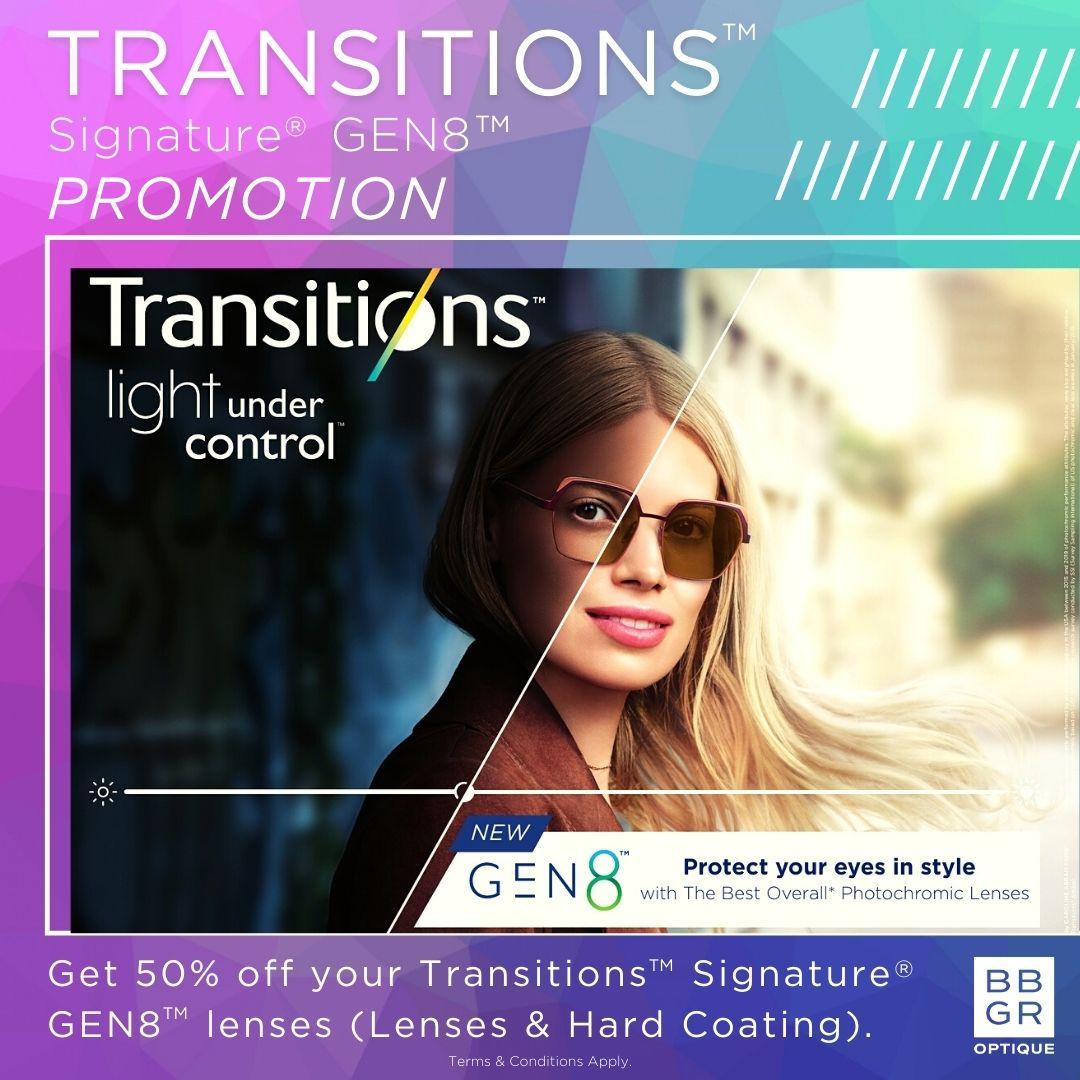 Transition lense promotion at NH Optometrist Plattekloof Cape Town