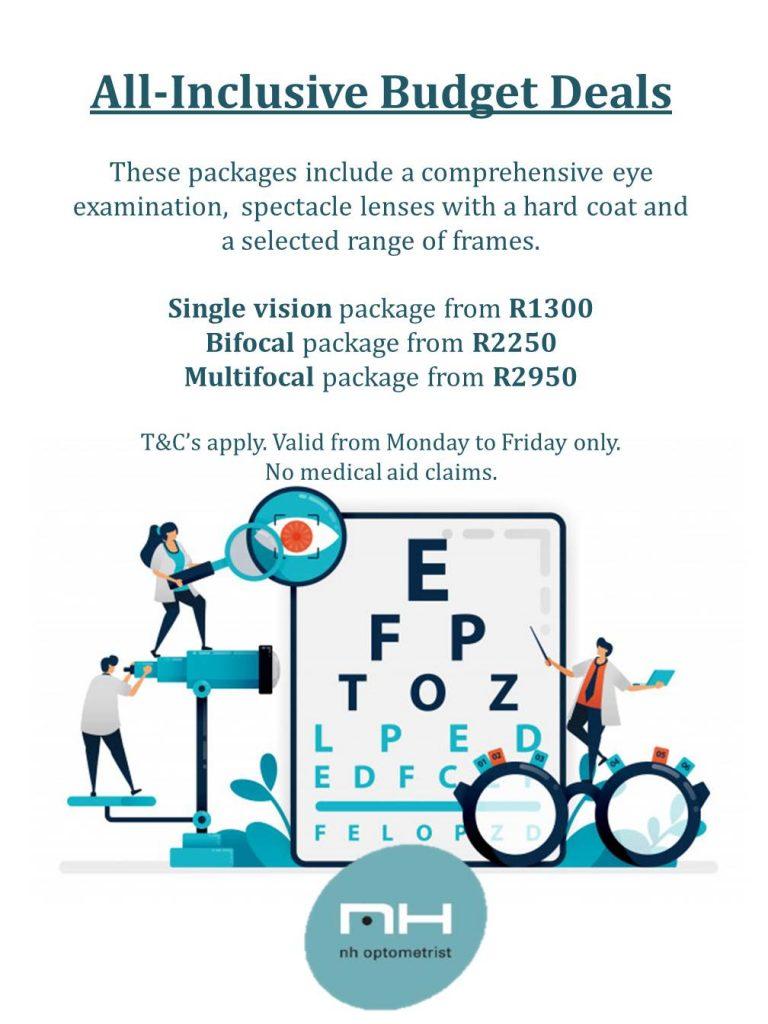 All-inclusive budget deals at NH Optometrist Plattekloof Cape Town