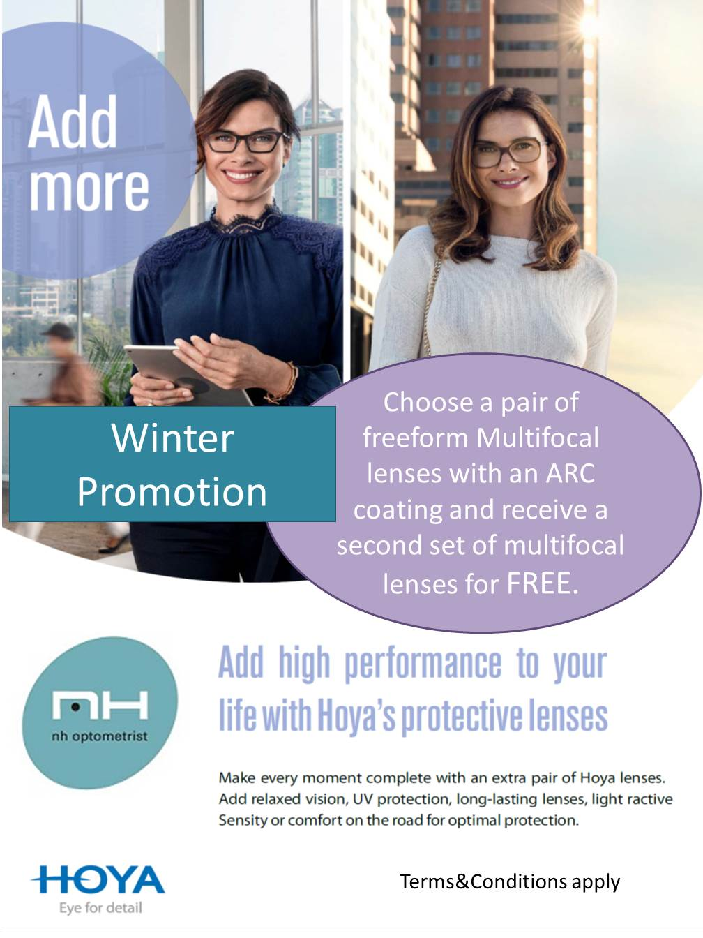 Free multifocal lense promotion at NH Optometrist Cape Town