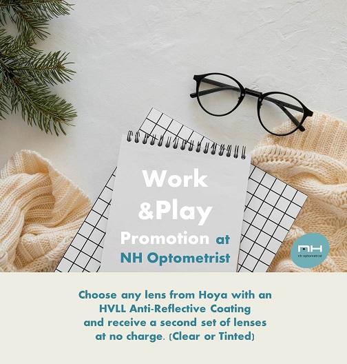 Free set of lenses promotion at NH Optometrist Plattekloof Cape Town