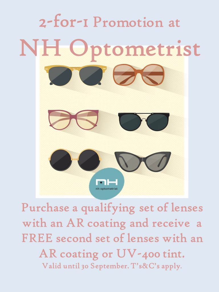 2 for 1 promotion at NH Optometrist Plattekloof Cape Town