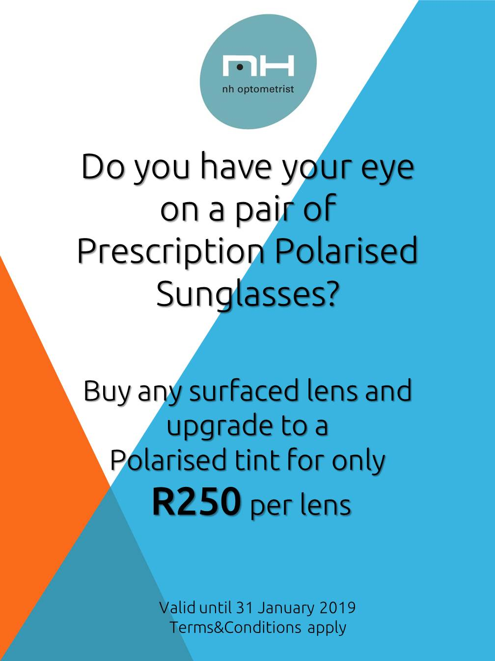 Polarised Sunglasses Promotion NH Optometrist Plattekloof Cape Town