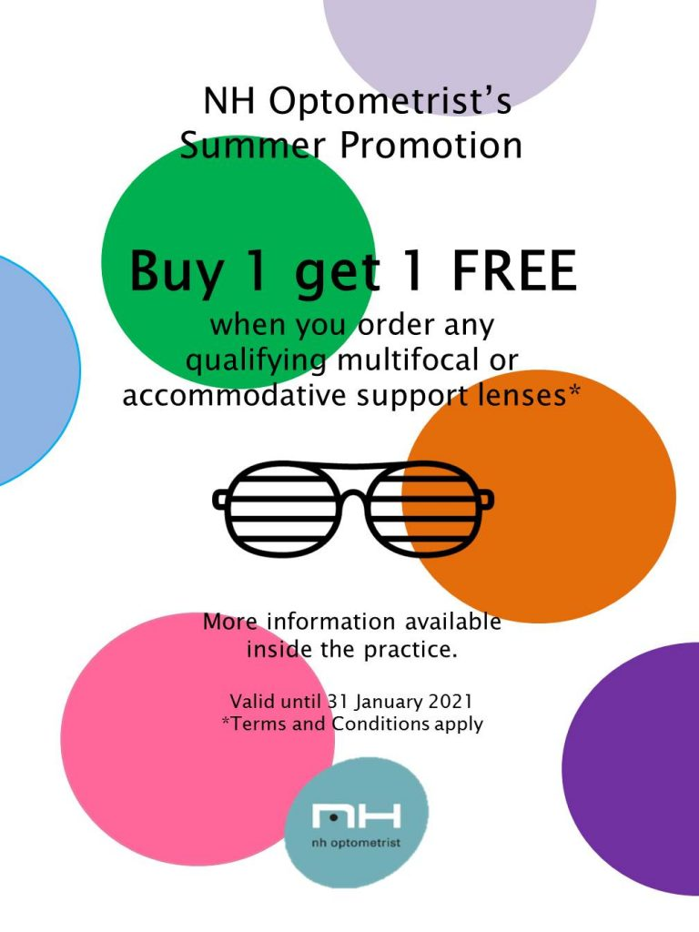 Free lense promotion at NH Optometrist Plattekloof Cape Town 2021